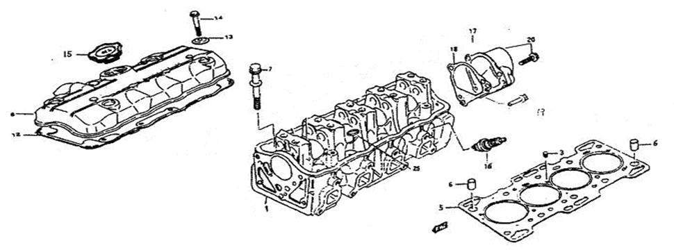 E1 Cylinder Head