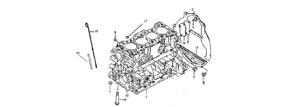 E2 ENGINE BLOCK