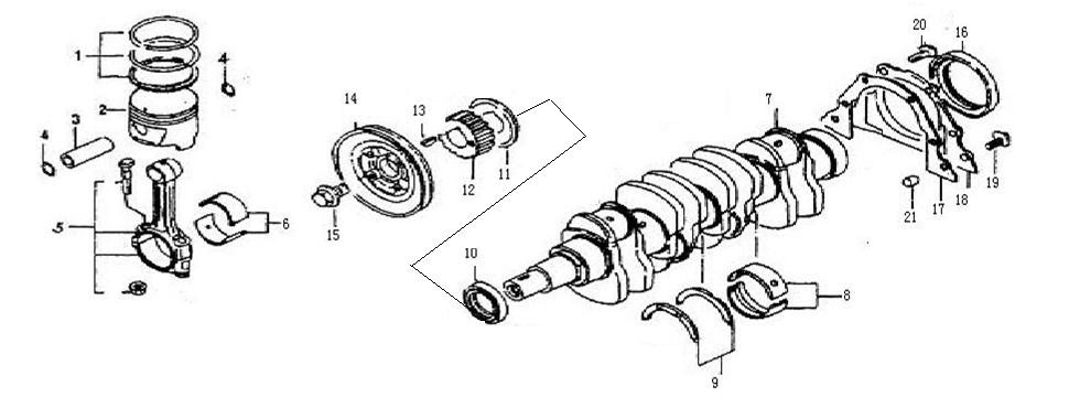 E4 Crankshaft & Piston