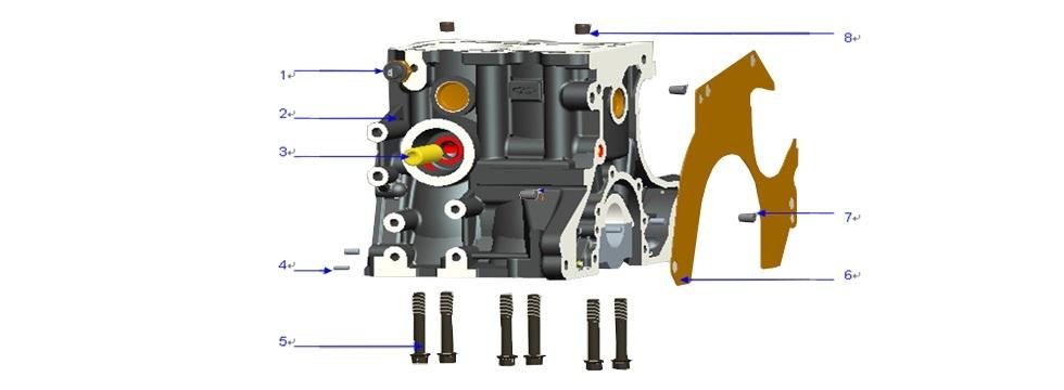 E1 ENGINE BLOCK