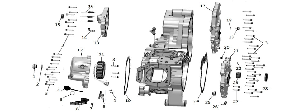 E2 RIGHT CRANKCASE
