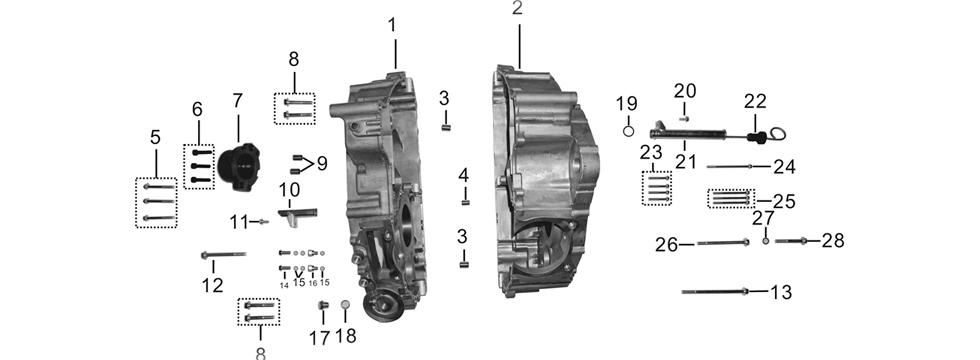 E-3 Crankshaft Case Comp