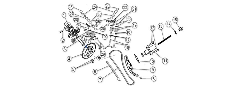 E8 GAS DISTRIBUTION PARTS
