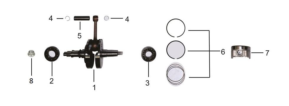 E9 Crankshaft & Piston