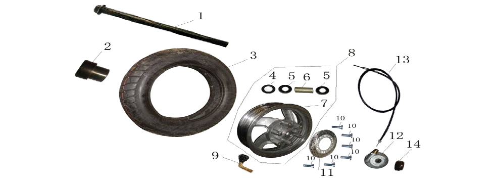 F13 FRONT WHEEL ASSY