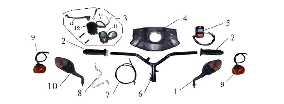 F15 HANDLE BAR ASSY