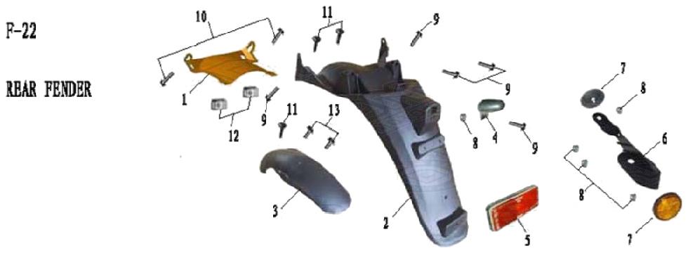 F22 REAR FENDER