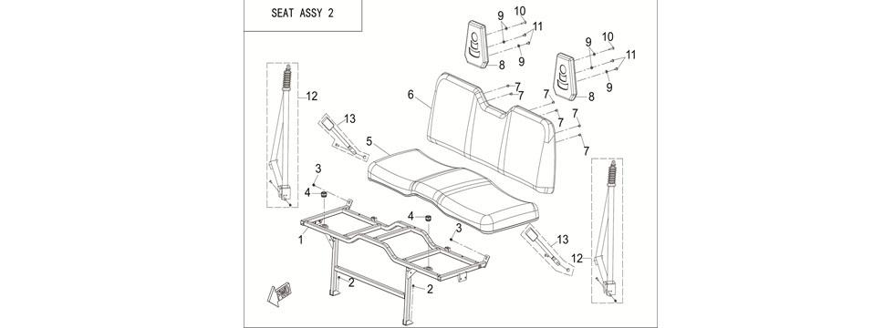 F26 SEAT ASSY 2