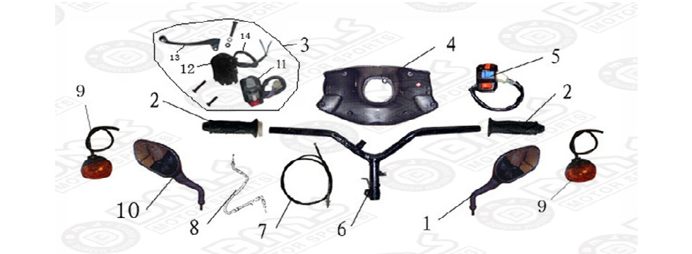F14 HANDLE BAR ASSY