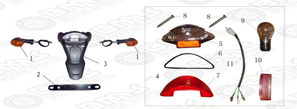 F7 REAR TAIL LIGHT ASSY