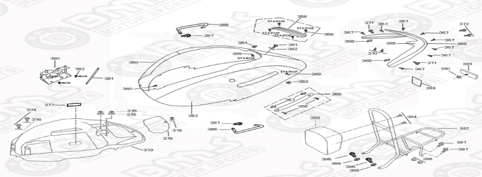 F12 REAR BODY PANELS