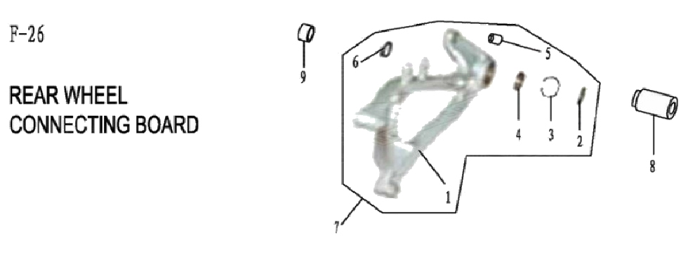 F26 REAR WHEEL CONNECTING BOARD