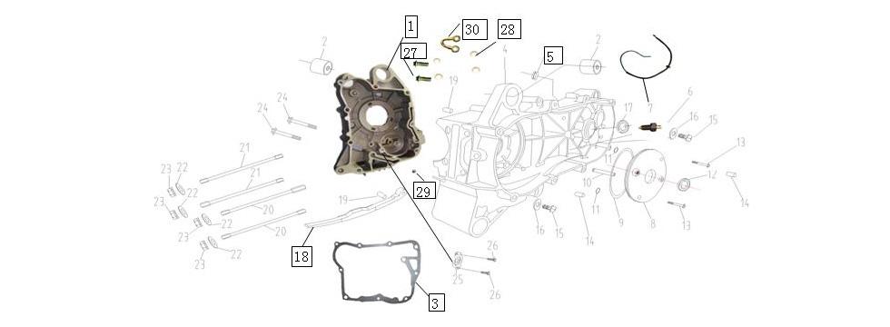E-1 Crankcase