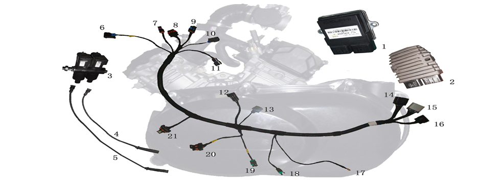 E13 ENGINE WIRE HARNESS