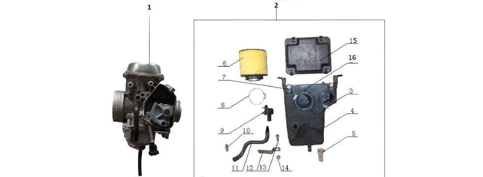 E18 Carburetor & Air filter