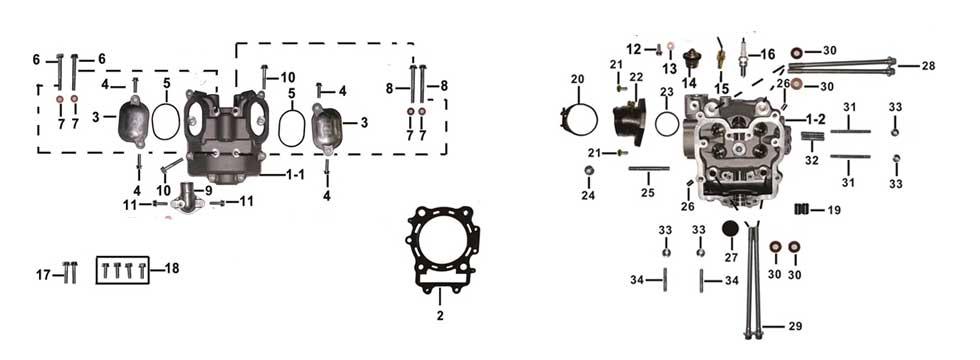 E-1 Cylinder Head Assy