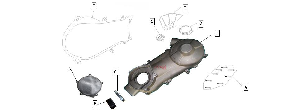 E-3 Crankcase Left Cover