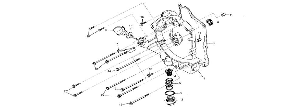 E-4 Crankcase Right Cover