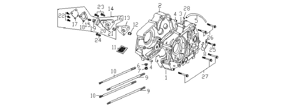 E6 Crankcase & Oil Pump