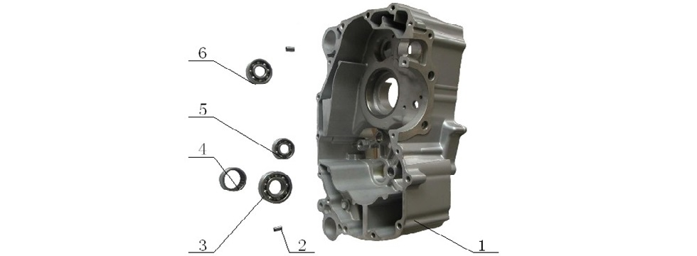 E9 Rear Crankcase Assy