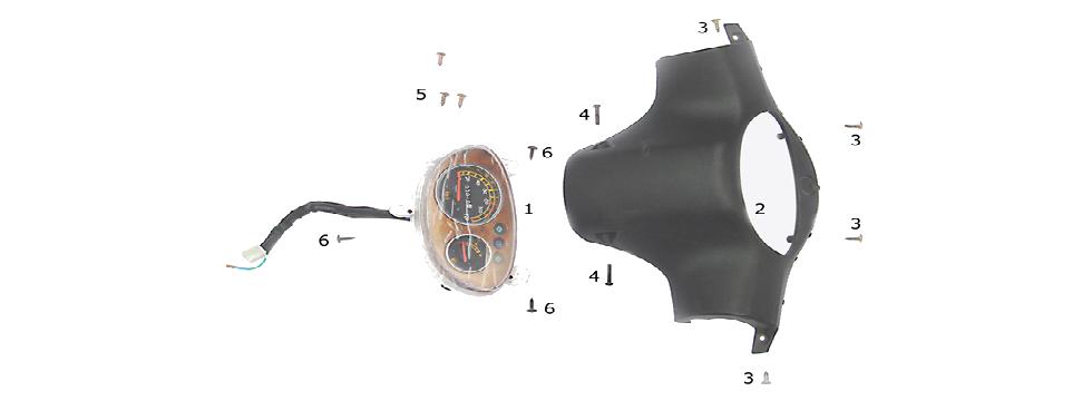 F14 SPEEDOMETER ASSY