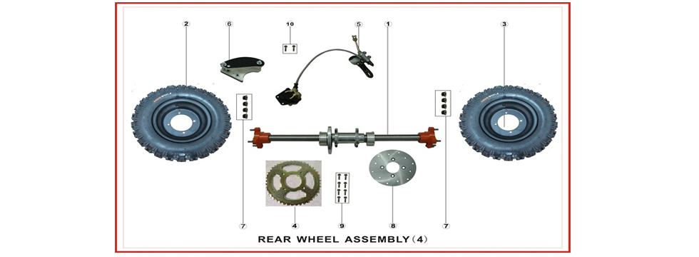 F4 Rear Wheel Assy.