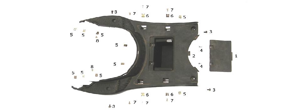 F8 PEDAL BOARD ASSY