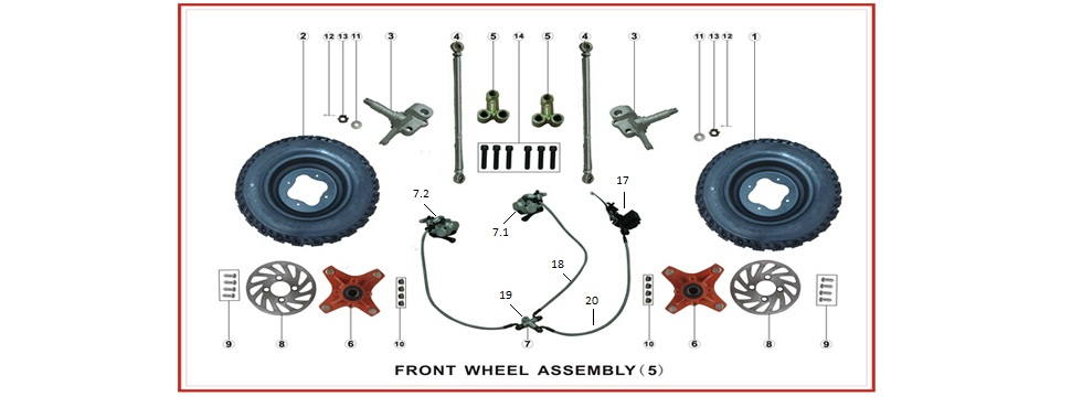 F5 Front Wheel Assy